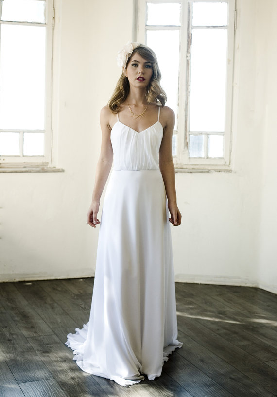 Simple Beach Wedding Destination Gown 2016