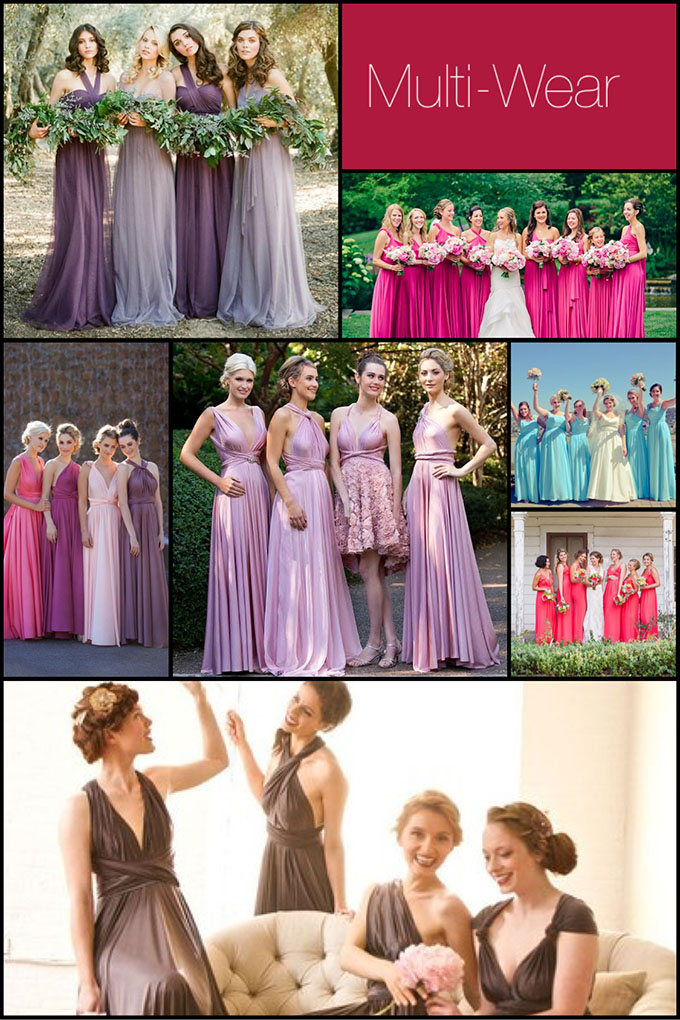 Multi Wear Long Bridesmaid Dresses
