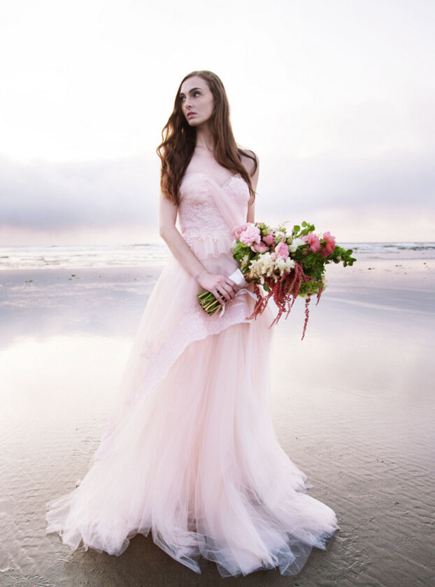 Colored beach wedding dresses gown and dress gallery for Colored beach wedding dresses