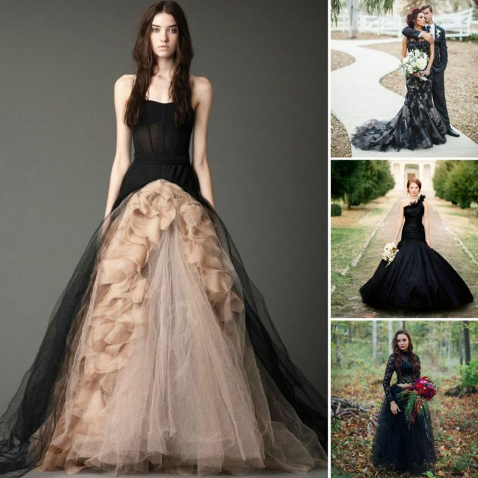 Black Colored Wedding Dress