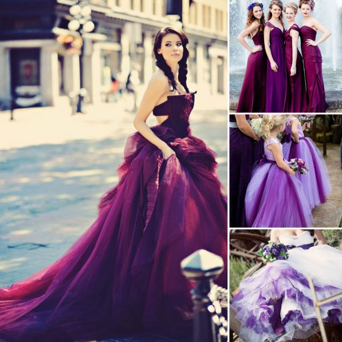 Purple wedding dress images galleries for Wedding dresses with purple trim