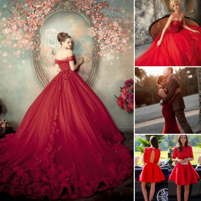 Red wedding colored dresses