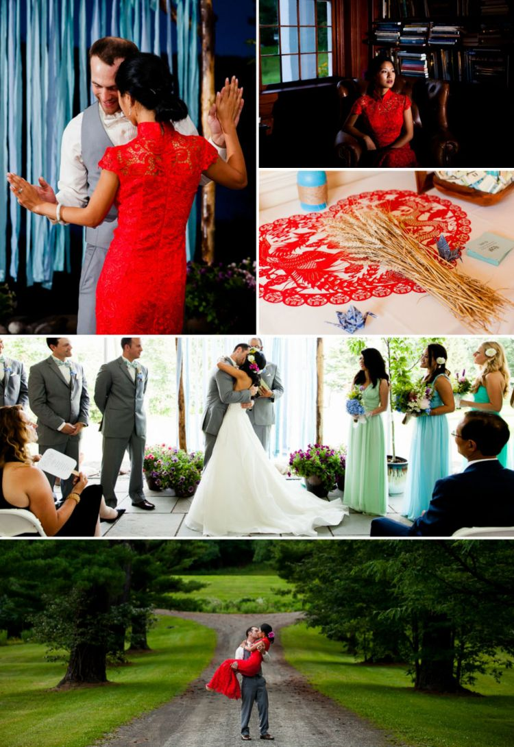 chinese culture wedding with qipao