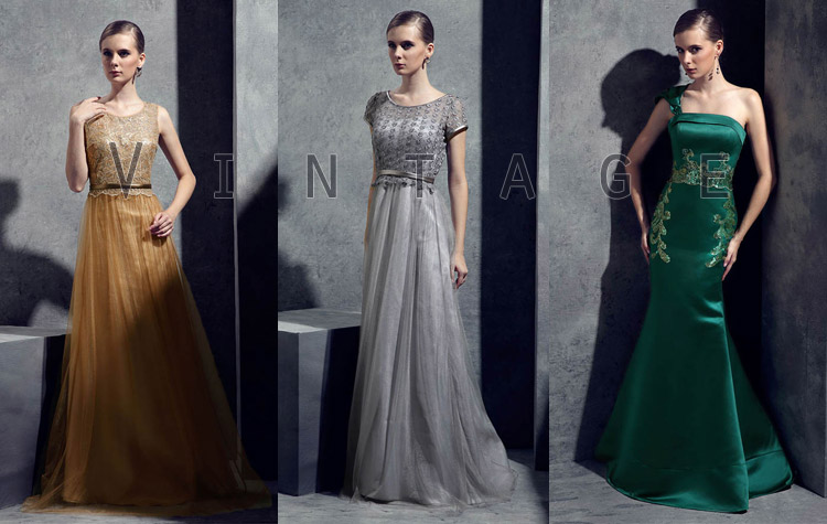 Vintage Inspired Elegant Evening Formal Dresses