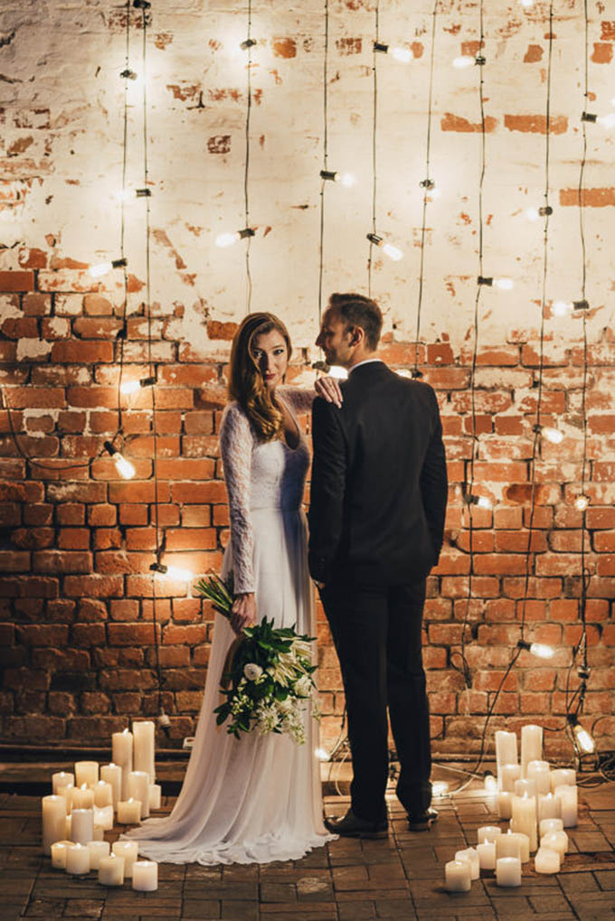 Candlelit Wedding Photo
