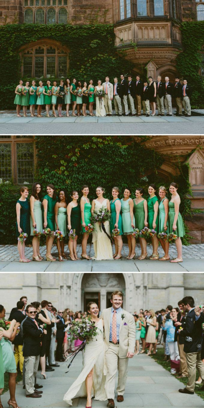 Bridesmaid Dress Short Different Color Different Design Green