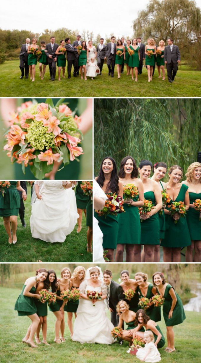 Short Bridesmaid Dress of the Same Color But Different Design