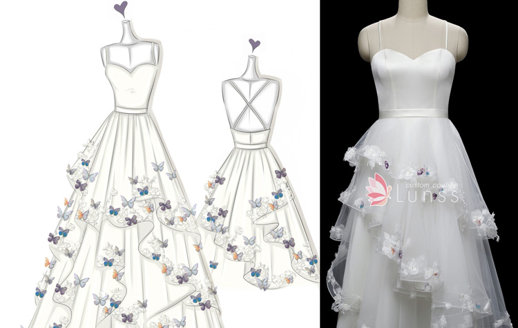 Where And How To Design Your Own Wedding Dress For Free Lunss Couture