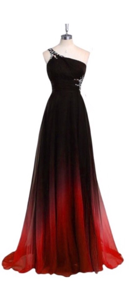 Amazing Red and Black Ombre Dress - Custom Design - Lunss Couture