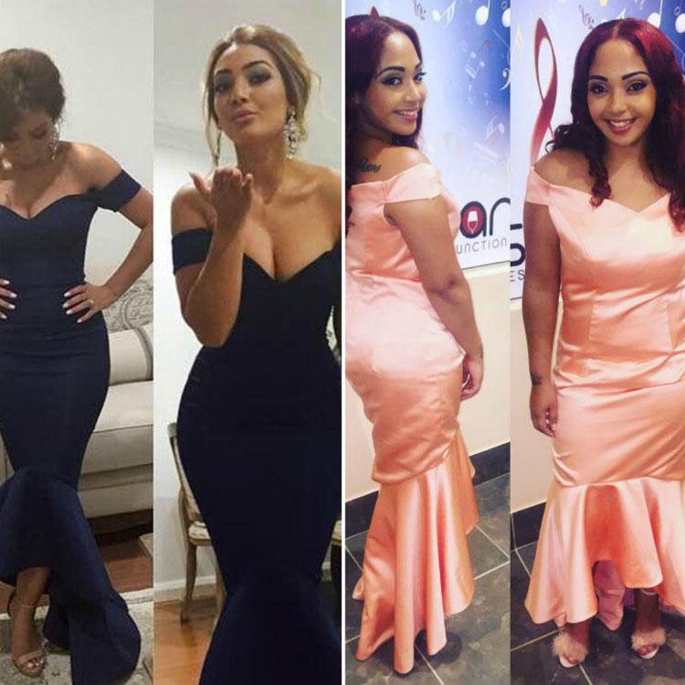 Beautiful Peach Color Prom Dress - Custom Design - Lunss Couture