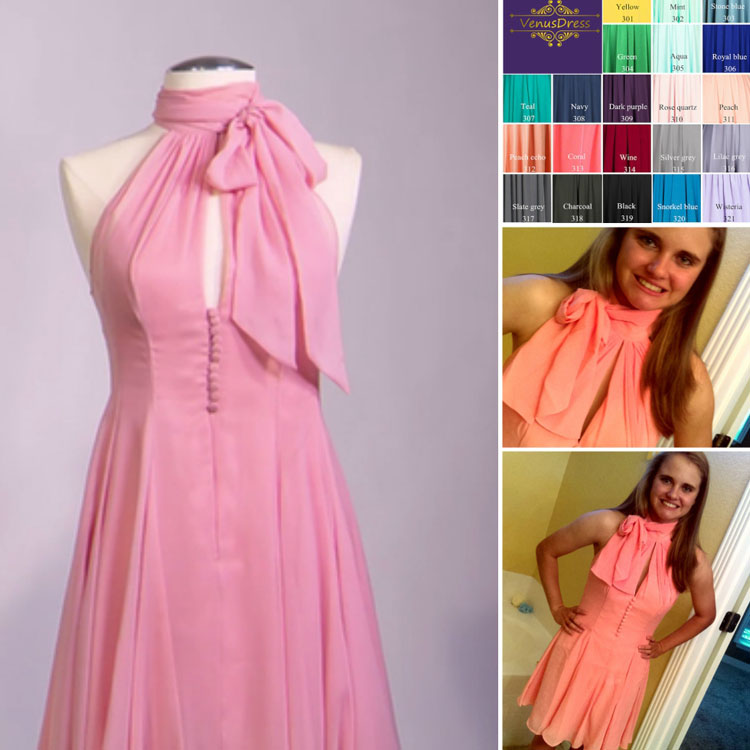 Cheap Chiffon Dress with Exact Measurements and Custom Color