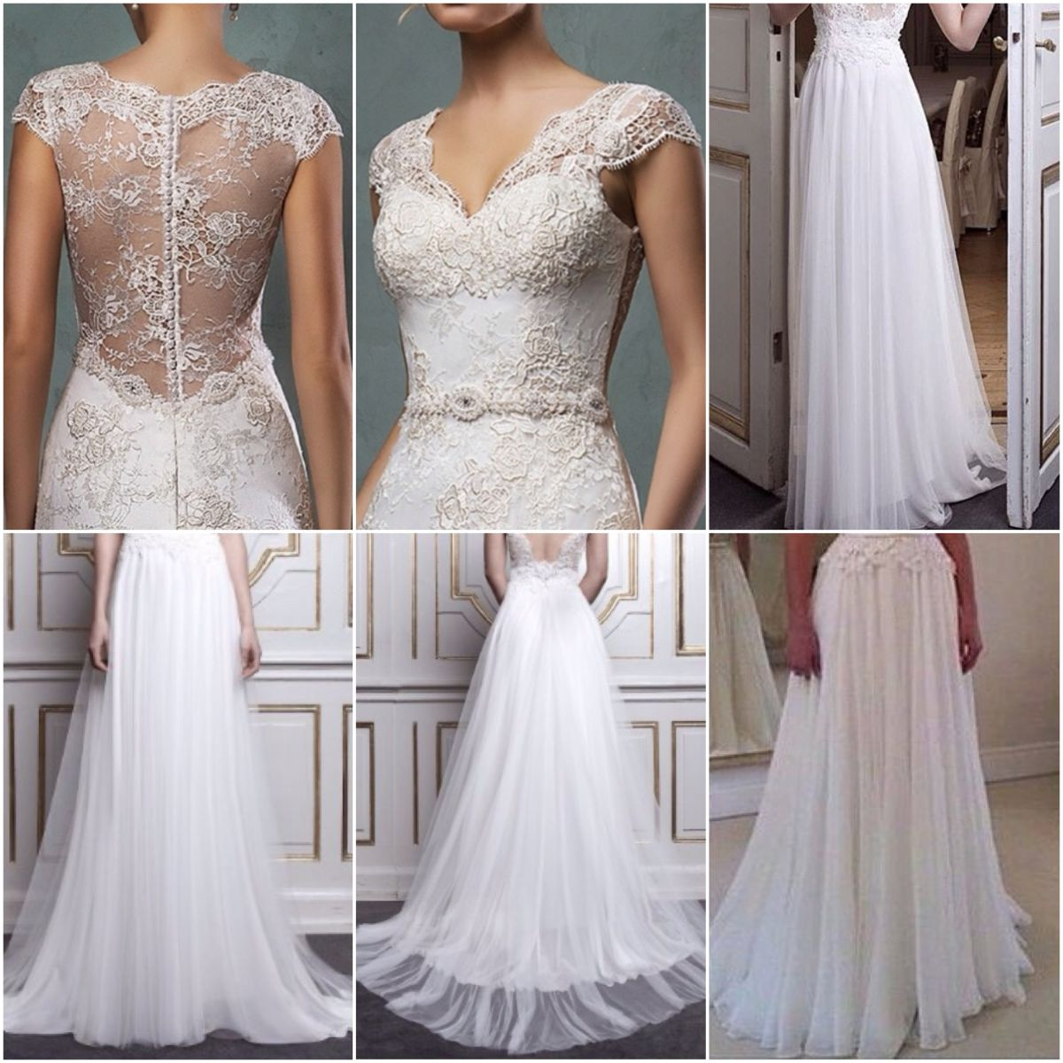 Wedding dress lace top chiffon bottom weddings dresses for Best lace wedding dresses