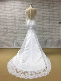 Perfectly Satin and Lace Wedding Dress