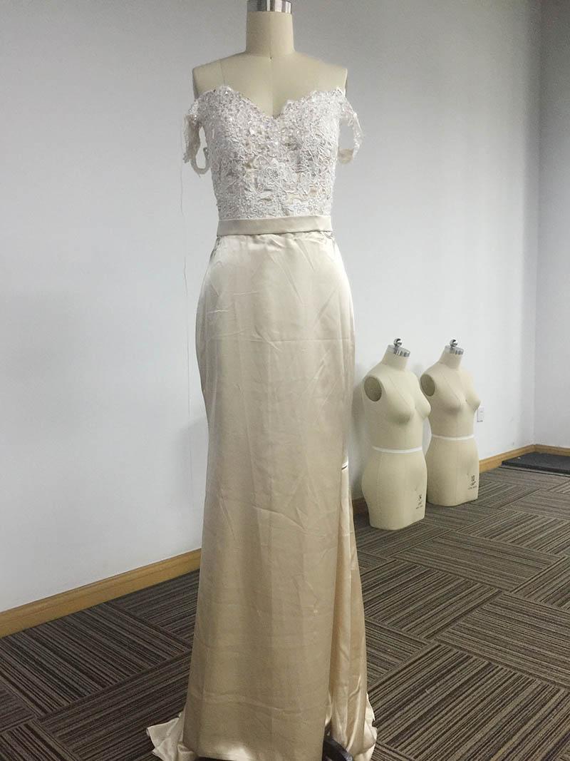 Champagne Charmeuse Dress