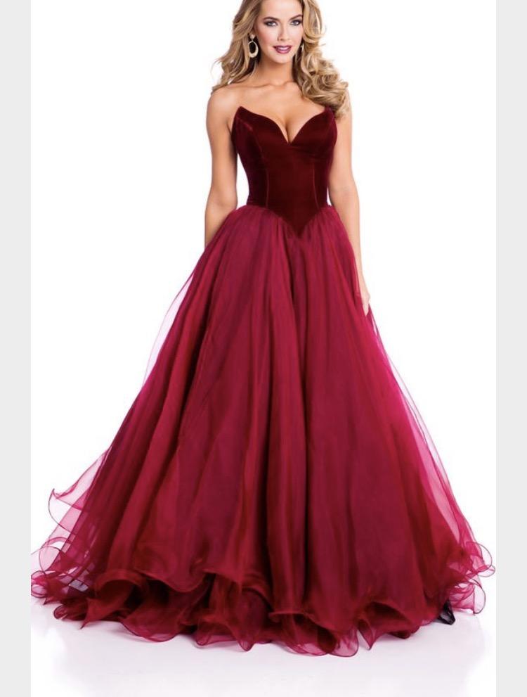 Dark Red Velvet Prom Dress Custom Design Lunss Couture