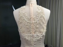 pearls beaded illusion back