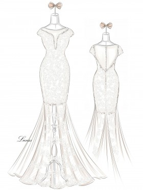 Dress Sketches Gallery Wedding Dresses Evening Prom Gowns Lunss