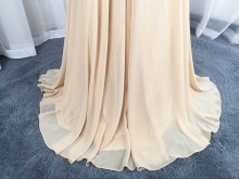 champagne altered A line chiffon skirt