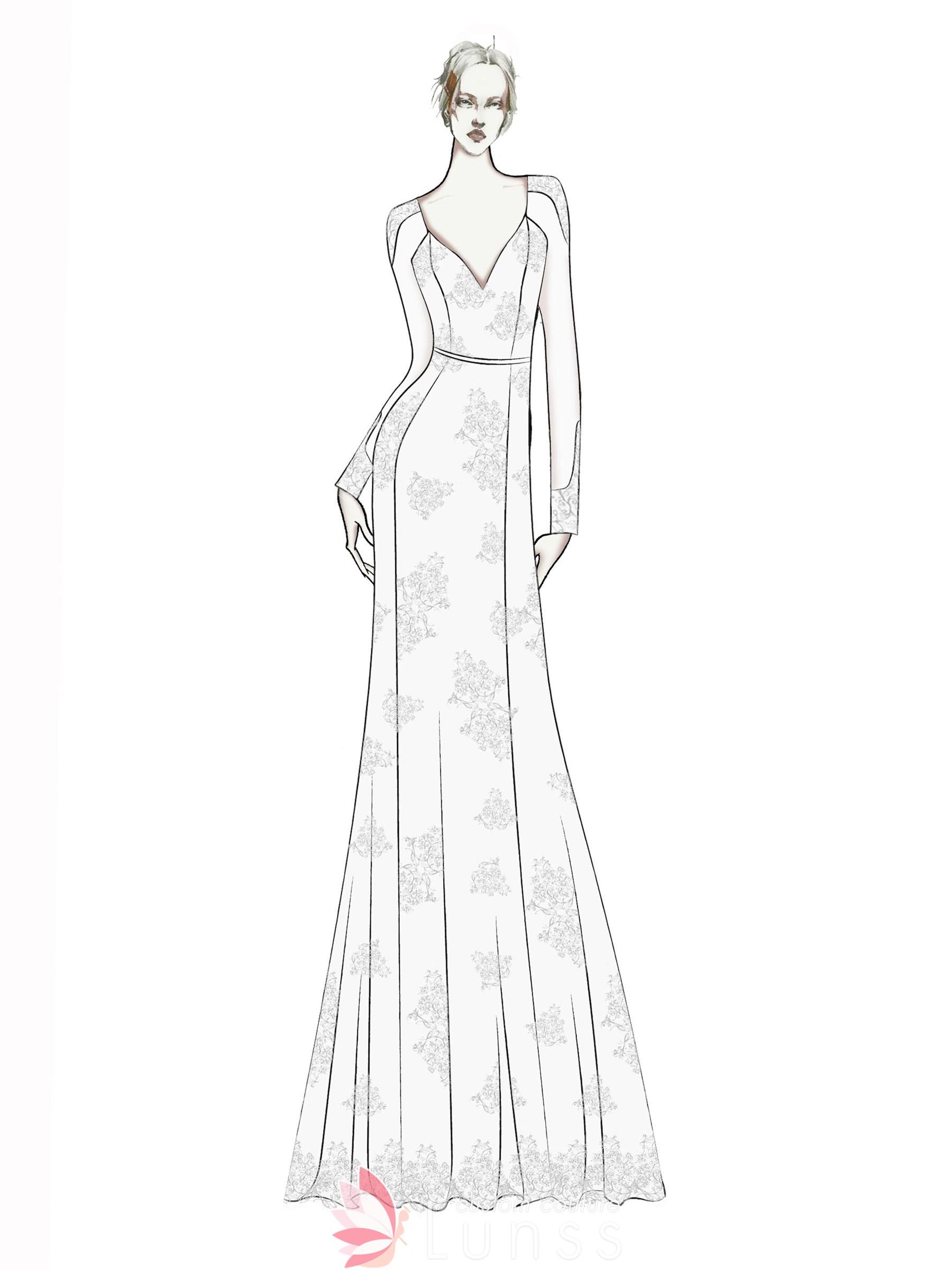 Dress Sketches Gallery Wedding Dresses Evening Prom