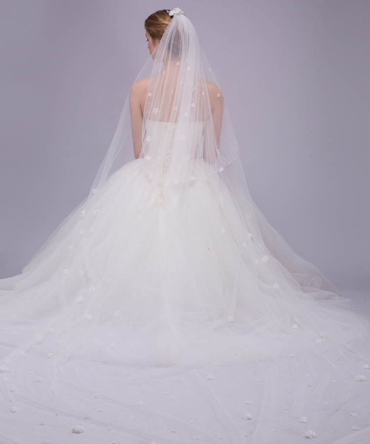 Cathedral Length Wedding Veil Illusion Tulle 3
