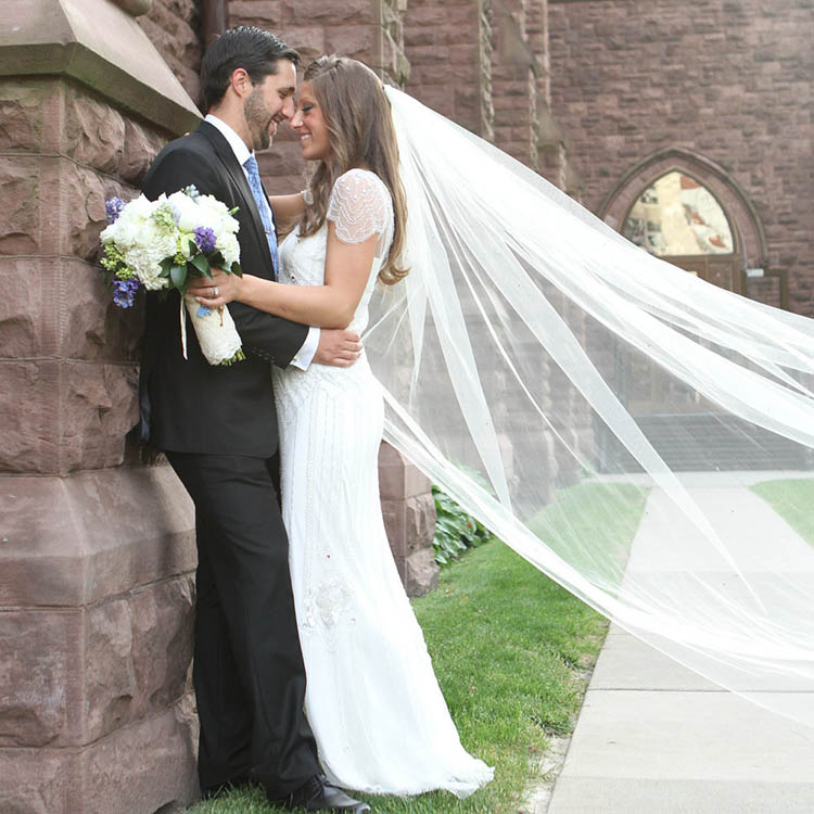 Find the best Chapel Length Bridal Veils for sale - Lunss Couture