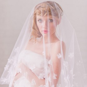 petal drop bridal veil elbow length wedding single tier veil 1