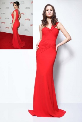 kim kardashian inspired red mermaid evening prom dress 1