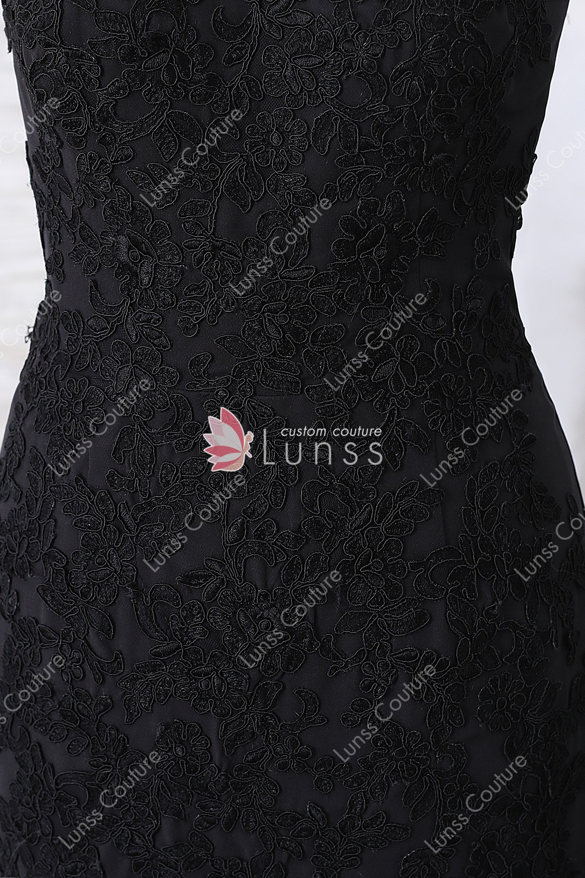 9d0c9ab7a3e7 Black Strapless Sweetheart Rose Lace Mermaid Dress with Court Train for  Wholesale