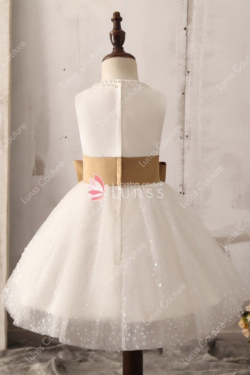 diamond princess sleeveless flower girl dress 3