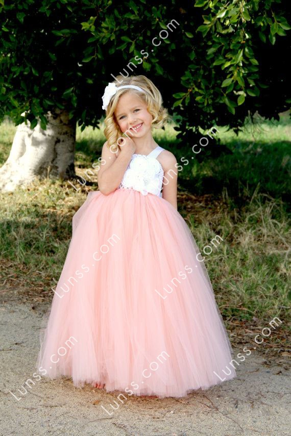 Custom Made Two Tone Spaghetti Strap Flower Girl Dress For Wedding 1