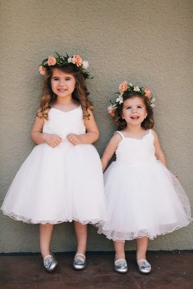 Shop flower girl dresses and communion dress lunss couture white tea length custom made princess kids flower girl dress mightylinksfo