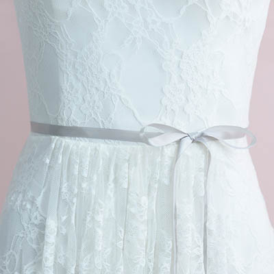 Crystals Beaded Bridal Sash Belt / Ribbon Belt - Lunss Couture