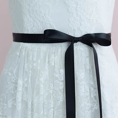 b56abf04d512 Simply Ivory Pearls Beaded Bridal Sash / Ribbon Belt - Lunss Couture