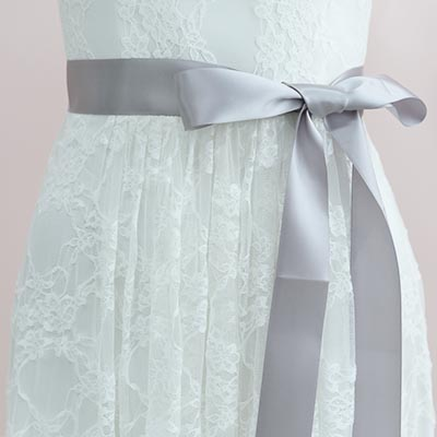 Ivory Pearls Beaded 3D Flower Bridal Sash / Satin Belt - Lunss Couture