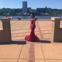gorgeous dark red dream prom dress