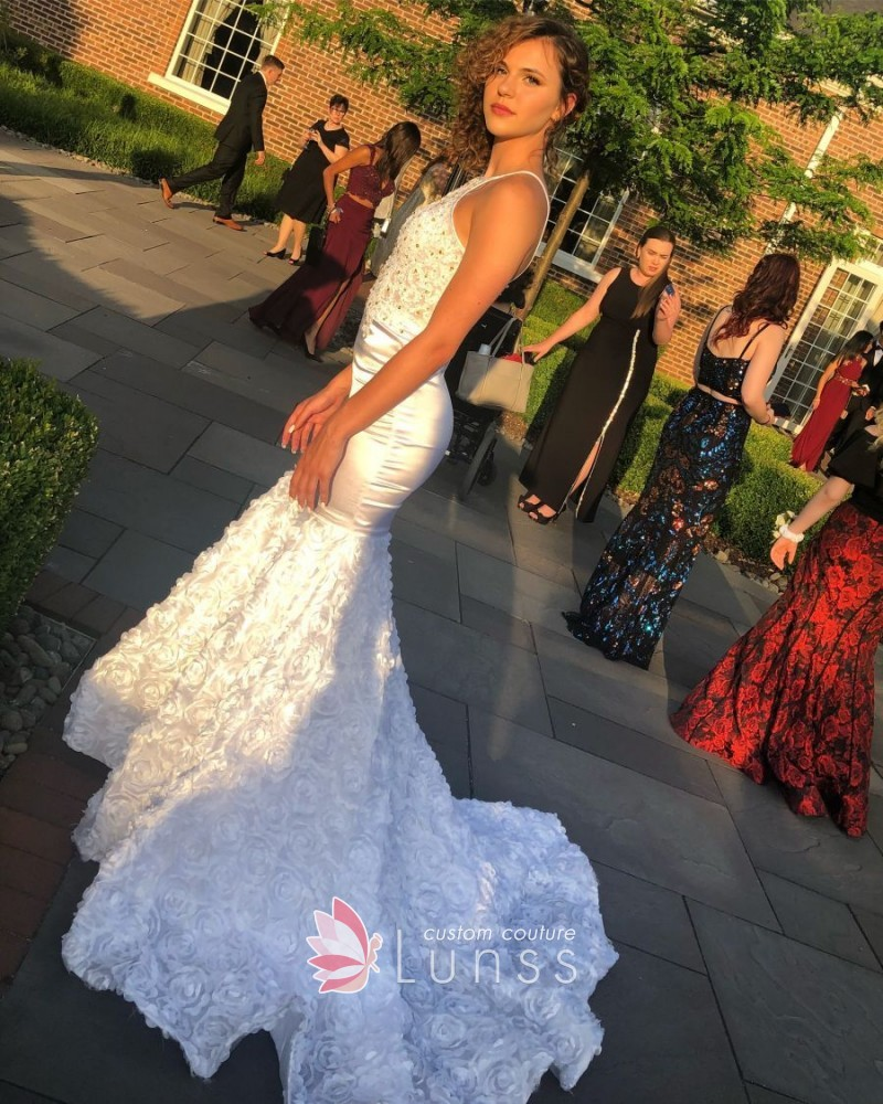 Custom made dresses online wedding dresses bridesmaid and evening beautiful white custom made prom dress perfect knee length wedding dress junglespirit Images
