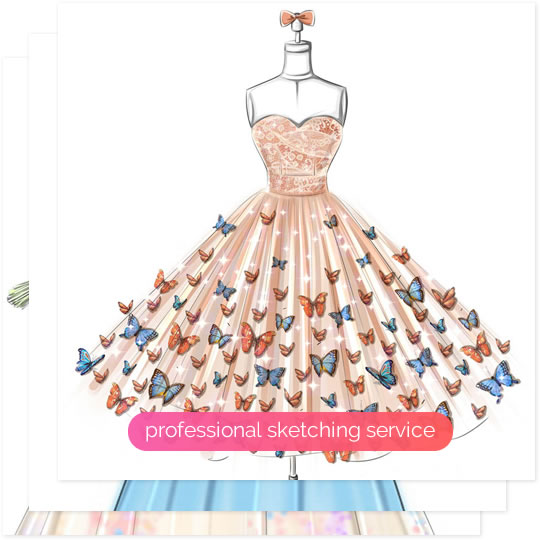 Fashion designing dresses images