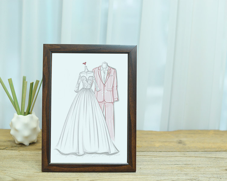 Wedding Dress Sketch Gift: Perfect Wedding Gift For Couple From Friends
