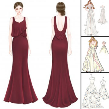 Design Your Own Wedding Dress And Evening Prom Formal Dress Online